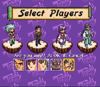 Tenchi Muyo! RPG - välj spelare